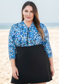 Three-Quarter Sleeve Swimdress ,