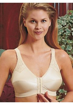Jodee Contemporary Front Hook Bra with Back Hook Adjustments,