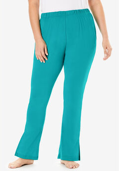 Dreams & Co.® Side Slit Wide Leg Pant,