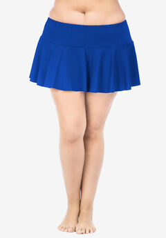 Ruffled Hipster Swim Skirt by Chaps, DEEP OCEAN BLUE