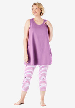 6d07ba92e999 Scoopneck Tank   Capri Legging PJ Set by Dreams   Co.®