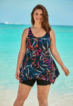 Handkerchief Swim Tankini Top,
