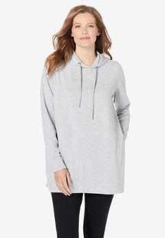 Pleat-Back Swing Sweatshirt,