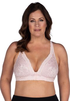 The Nola Lace Wirefree Front Closure Bralette ,