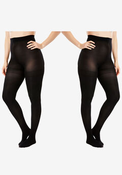 2-Pack Semi-Sheer Smoothing Tights by Comfort Choice®,