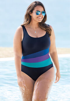 Colorblock One-Piece by Swim 365,
