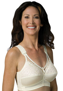 Sheer Comfort Back Hook Mastectomy Bra,