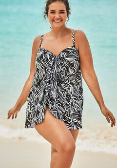 Mesh-Draped Swimsuit ,