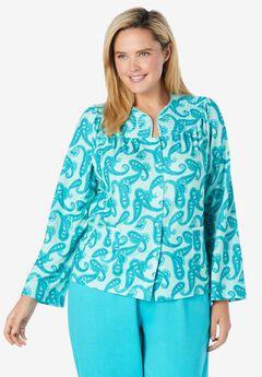 Waffle Knit Short Robe,
