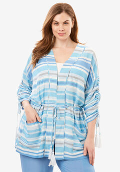 The Getaway Robe with Tassel Drawstring,