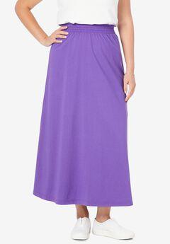 Jersey Knit Long Skirt,