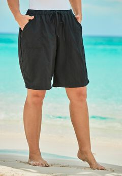 Taslon® Swim Board Shorts with Built-In Brief,