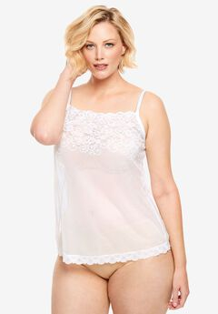 Sheer Lace Trim Camisole by Comfort Choice®,