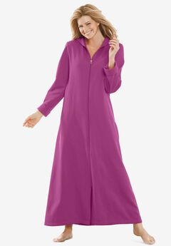Hooded Fleece Robe by Dreams & Co.®, RICH MAGENTA