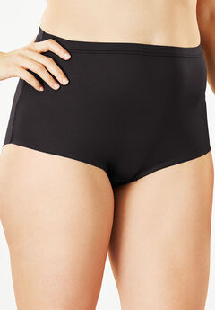 No-Show Full-Cut Brief by Comfort Choice®, BLACK