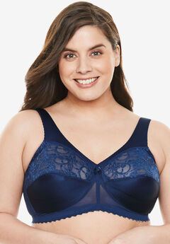 Glamorise® Magic Lift® Support Wireless Bra #1000, NAVY
