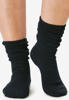 6-Pack Rib Knit Socks by Comfort Choice®,