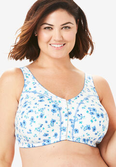 Cotton Front-Close Wireless Bra by Comfort Choice®,