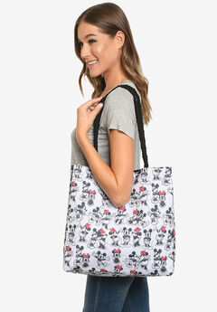 Disney Mickey & Minnie Mouse Tote Bag Carry-On Travel Beach Bag,