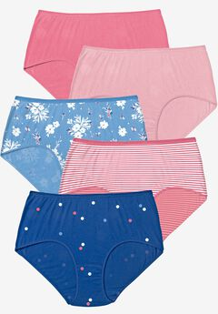 5-Pack Pure Cotton Full-Cut Brief , SCATTERED DOT PACK