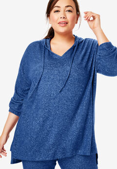 Dreams & Co.® Supersoft Oversized Lounge Sweater, EVENING BLUE
