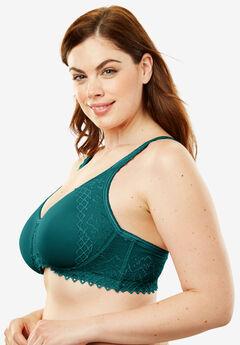 Wireless Lace-Trim T-Shirt Bra by Comfort Choice®,
