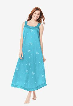 Long Embroidered Gown by Dreams & Co®,