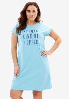 Cotton Crisscross Back Graphic Sleepshirt by Dreams & Co.®,