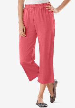 7-Day Knit Capri, ROSE PINK