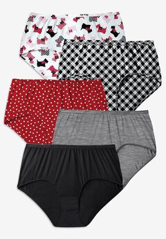 5-Pack Pure Cotton Full-Cut Brief by Comfort Choice®, SCOTTIES PACK