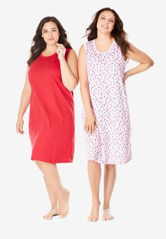 2-Pack Sleeveless Sleepshirt by Dreams & Co.®,