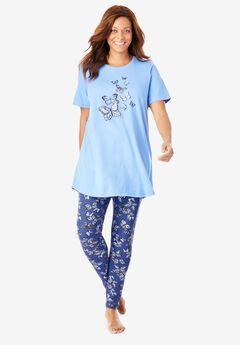 Graphic Tunic PJ Set, ULTRA BLUE BUTTERFLIES