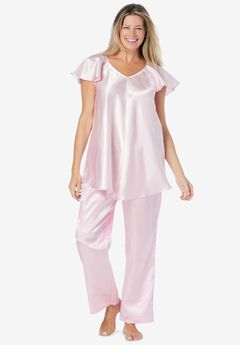 The Luxe Satin PJ Set , PINK