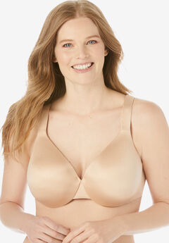 Solid Full-Coverage Smooth Underwire Bra,