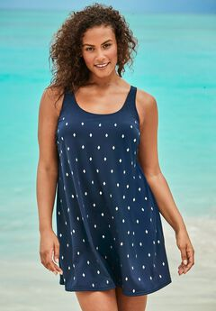 Studded Trapeze Swim Dress by Swim 365,