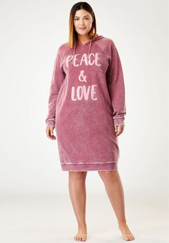 Burnout French Terry Graphic Hooded Lounger by Dreams & Co.®,