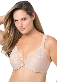 Front-Hook Stretch Lace Wonderwire® Bra by Glamorise®,