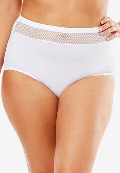 Comfort Choice® Lace-trim Microfiber Brief,