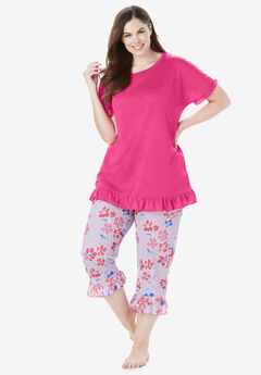 c9602ccd26 Cool Dreams Ruffled Capri Pajama Set