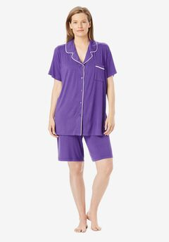 Stretch Knit Pajama Short Set by Only Necessities®,