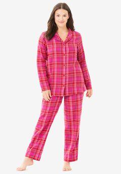 Classic Flannel Pajama Set , CLASSIC RED PLAID