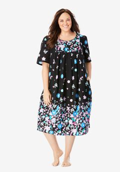 Mixed Print Short Lounger by Only Necessities®, BLACK BLOSSOM