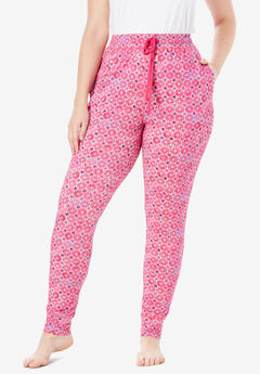 Relaxed Pajama Pant by Dreams & Co.®, RASPBERRY SORBET GEO