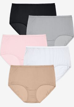 5-Pack Nylon Full-Cut Brief by Comfort Choice®,