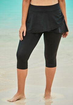 Skirted Swim Capri Pant by Swim 365,