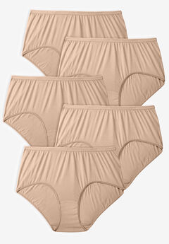 5-Pack Pure Cotton Full-Cut Brief , NUDE PACK