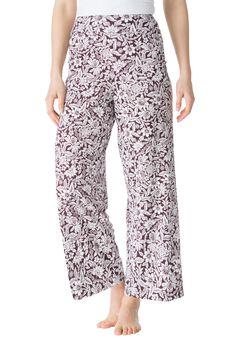 Wide Leg Pajama Pant by Dreams & Co.®,