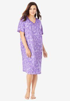 Print Sleepshirt by Dreams & Co.®, PLUM BURST PAISLEY