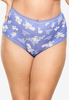 Lace Trim Microfiber Hipster by Comfort Choice®,