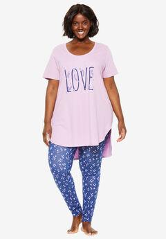 High-Low Tunic PJ Set by Dreams & Co.®,
